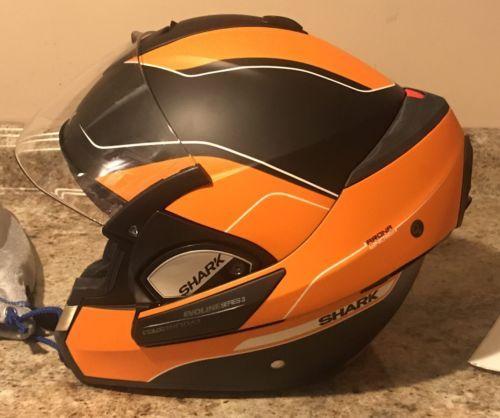 #apparel SHARK Evoline Series 3 ST ARONA Motorcycle Helmet Orange/black XL please retweet