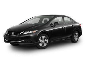 Build My Honda  | 2013 Civic Sedan LX Manual Crystal Black Pearl totaling at $18,995
