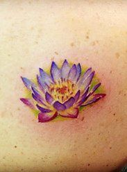 watercolor water lily tattoo - Google Search