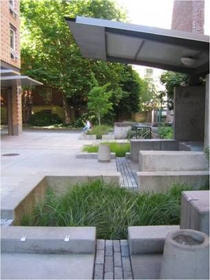 Bioswale filters stormwater in Portland, OR. Click image for many more examples and visit the slowottawa.ca boards >> http://www.pinterest.com/slowottawa/