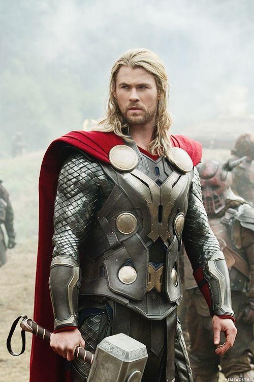 Chris Hemsworth...THOR!! I have found my superhero.