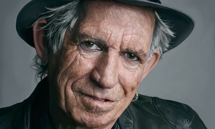 My Digital Painting of Keith Richards! #keithrichards #rollingstones