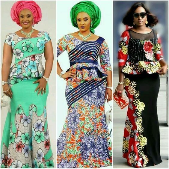 Elegant and Lovely Ankara Skirt and Blouse Styles 2019 1