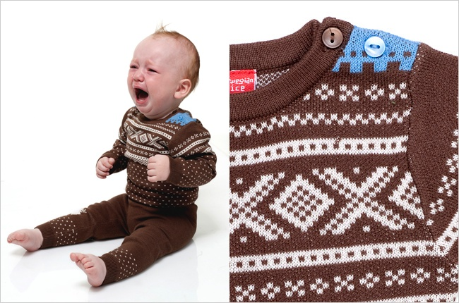 Lice Marius Playsuit - The Marius pattern is a classic Norwegian knitting pattern. Designed by Unn Søiland Dale, and named after the Alpine skier Marius Eriksen. This is the single most knitted pattern in Norway.