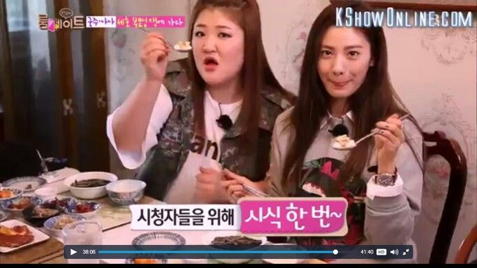 Thinking that they are in a food channel.. Lol!! #Roommate #RoommateS2 #GukJoo #Nana