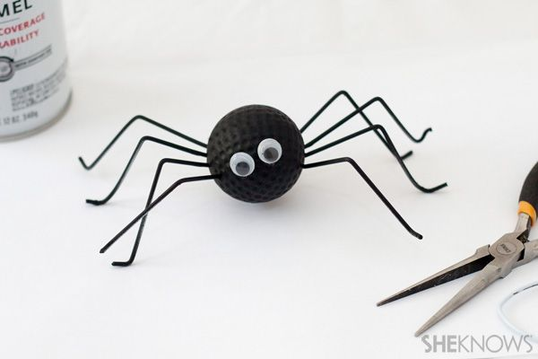 Spider golf ball craft - Father's Day crafts