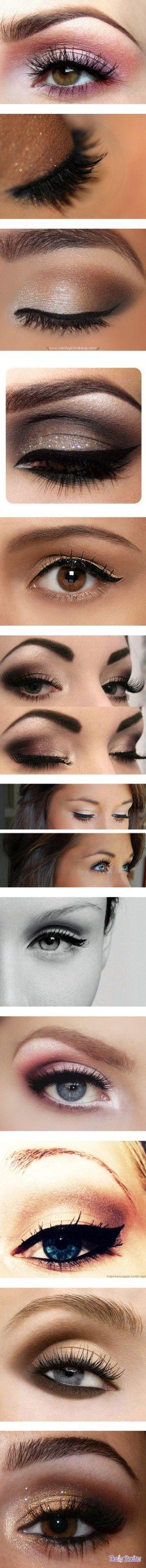 eye makeup and eyelashes for days