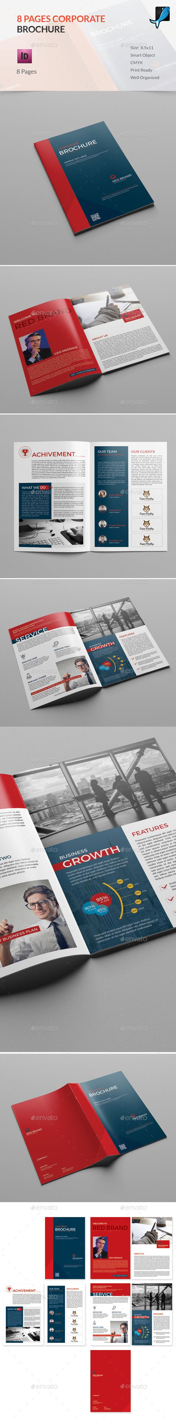 8 Pages Brochure  - InDesign Template • Only available here ➝ https://graphicriver.net/item/8-pages-indesign-brochure-template/16950159?ref=pxcr
