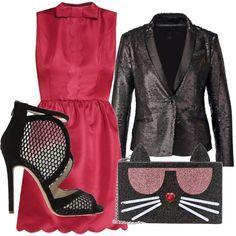 Vestito nero e stivali marroni pool