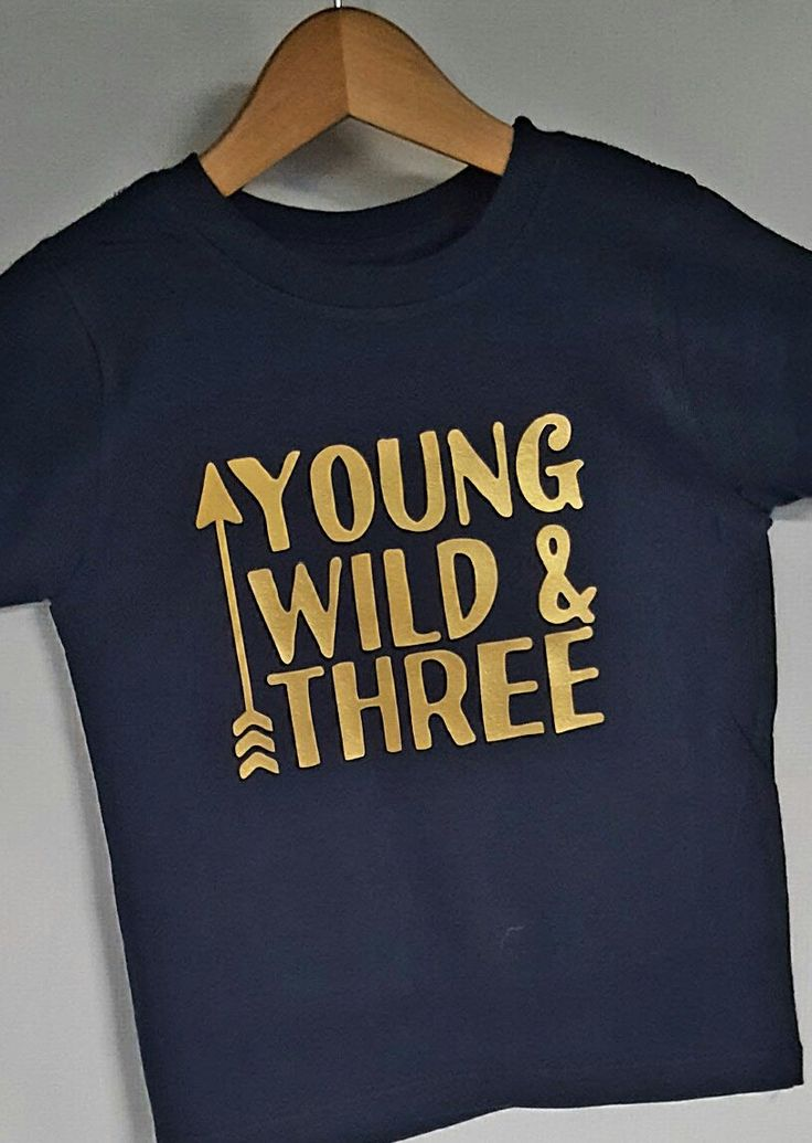 Young wild and three birthday shirt. arrow shirt, family shirts,mama bear papa bear,cub shirts by luvolthings on Etsy