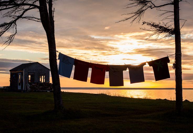 Sunset at the cottage on Salmon Beach, Bathurst NB -Bathurst NB Photographer- Tara Geldart