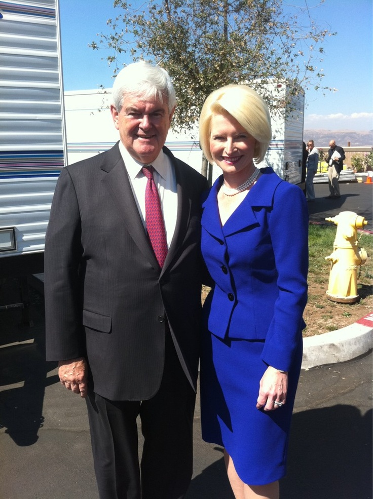 Newt Gingrich and his wife.   What a gifted man!  God bless Newt!