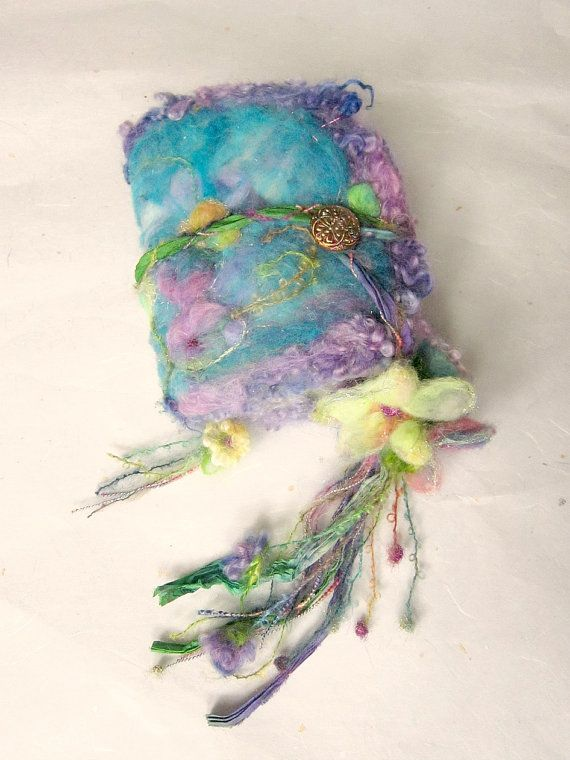 felted+wool+journal+art+book+++enchanted+forest+by+beautifulplace,+$63.00