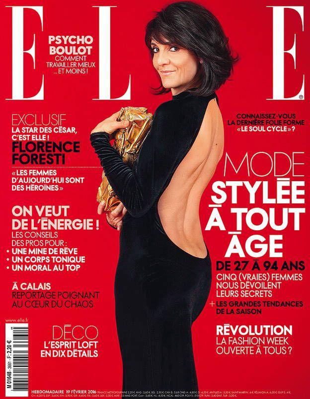 A quelques jours des César, retrouvez Florence Foresti en couverture de ELLE cette semaine