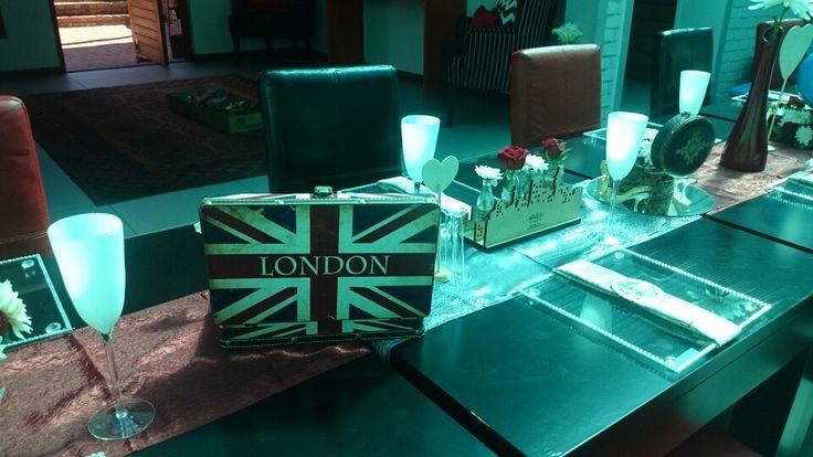Airhostess Travel to London centerpiece