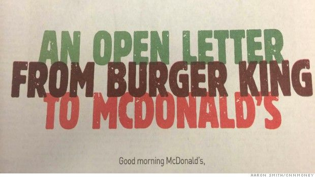 BIG MISTAKE: McDonald's nixes Burger King's McWhopper pitch - Aug. 26, 2015