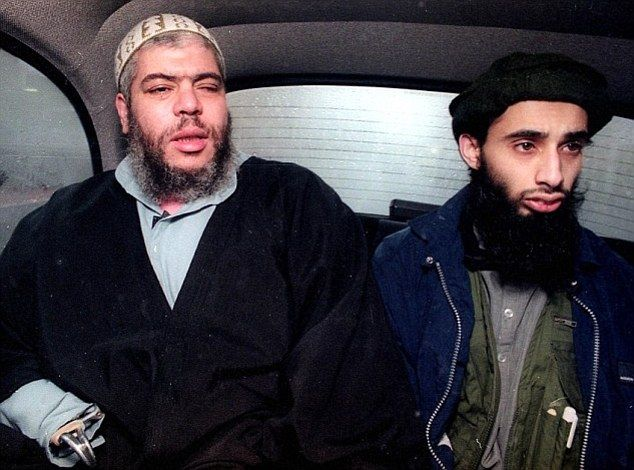 Ruling: Haroon Aswat (right), pictured with radical cleric Abu Hamza al Masri, has been told today he will not be extradited from Britain to...
