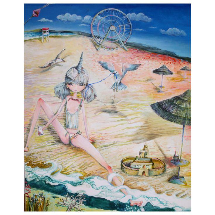 SUNJUICE, acrylic on canvas, 80/100, popart, fineart, contemporary art, superflat.