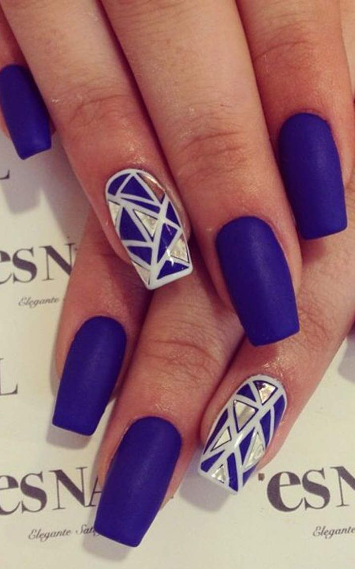 royal blue nails #5 | nails | Uñas azules, Uñas acentuadas ...