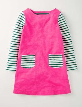 Foxglove Stripy Dress Boden