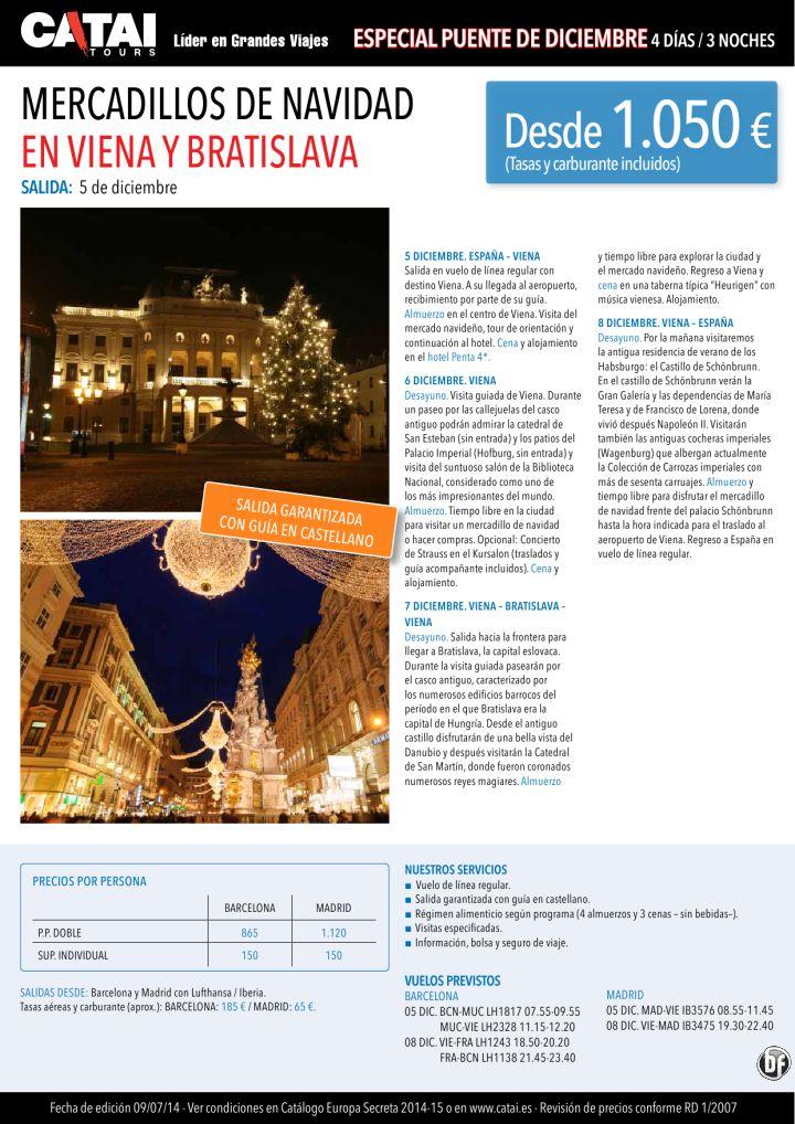 Pte dic: Mercadillos de Navidad VIENA y Bratislava, sal garant 5dic, guia castell, 4d/3n dsd 1.050€ ultimo minuto - http://zocotours.com/pte-dic-mercadillos-de-navidad-viena-y-bratislava-sal-garant-5dic-guia-castell-4d3n-dsd-1-050e-ultimo-minuto-3/