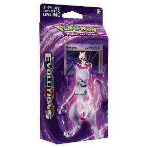 Collect your Pokemon XY S12 Evolutions Theme Deck! Let it rip! Mewtwo is ready to dish out the chaos! With Hitmonchan and Onix delivering quick hits, this deck clobbers both body and mind. You'll be right in the thick of the action! In this box you'll find: 60 Pokemone Card Deck, 1 Card Checklist, 1 Metallic Coin, 2-Player Playmat and Rulesheet, 1 Code Card to play this deck online, 1 Deck Box, and Damage Counters.