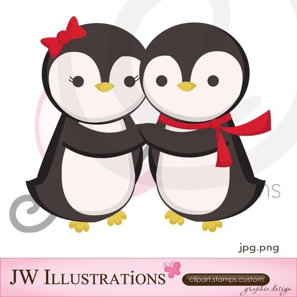 Pingüinos enamorados Cliparts Pinterest