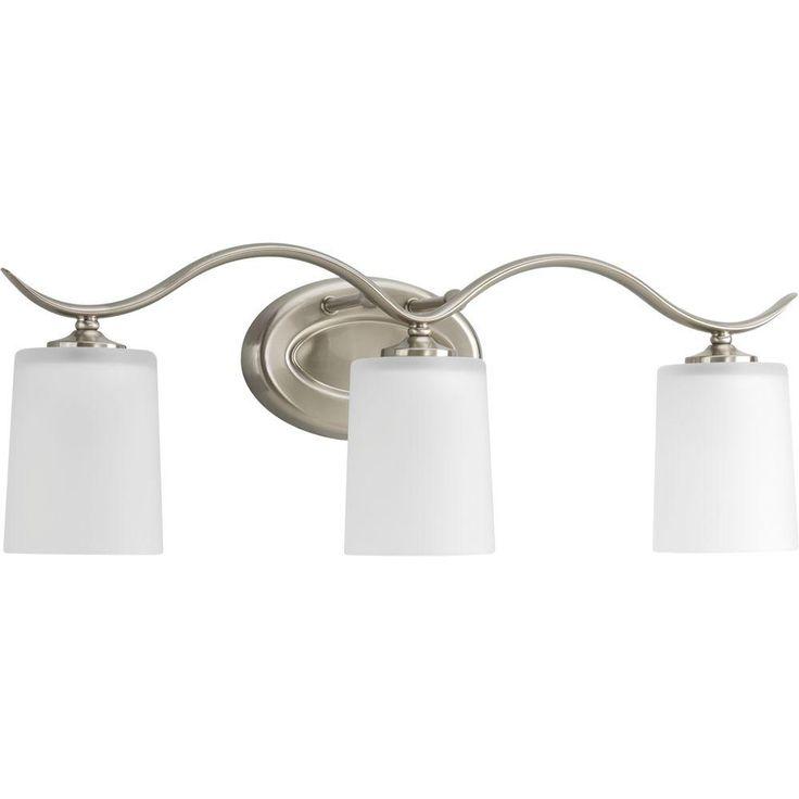 Progress Lighting Inspire Collection 3 Light Brushed Nickel Vanity Fixture