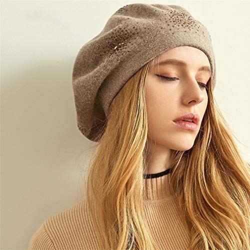 cd30fd65938 qlskf Woolen Cap Female Winter Hats for Women Flat Cap Cashmere Knit Hats  Girl Lady Beanies