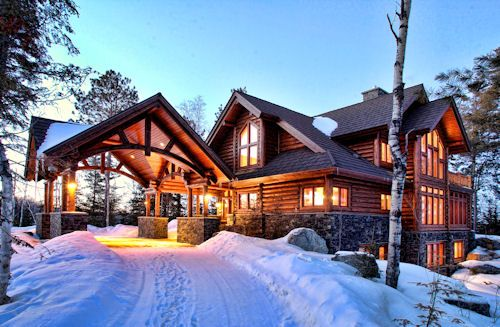 Luxury Log Home On White Iron Lake Lake Home And Cabin