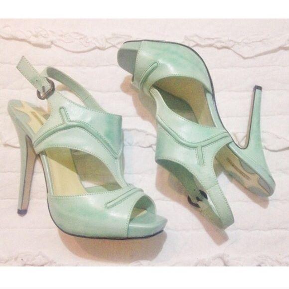 """Maxstudio Mint Heels New not worn, beautiful mint heels. Heel is 4"""" tall. Shoes Heels"""
