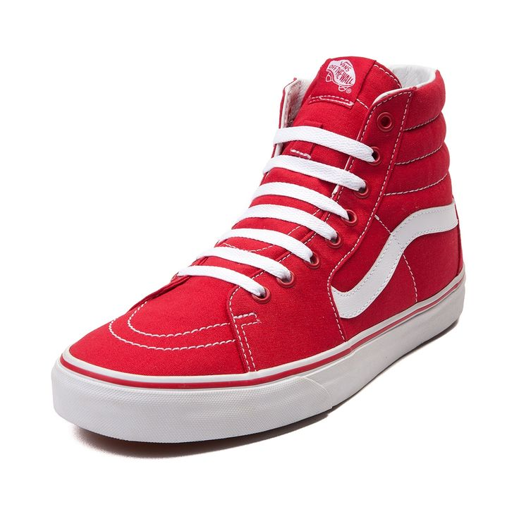 vans old skool hi top red