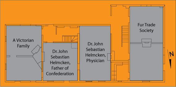 Helmcken House Floor Plan