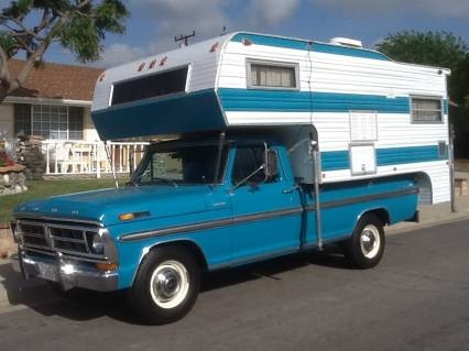Vintage Ford Ranger XLT Camper Special w/ matching [I thought this was the ultimate in camper cool when I was a kid]