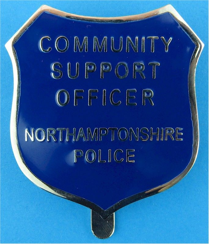 Northamptonshire Police Community Support Officer Shield Cap Badge Chr