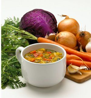 Infamous Zero Point Value Soup, WW:  Vegetable Soup Recipe Ingredients: 2/3 cup sliced carrots 1/2 cup diced onions 2 garlic cloves, minced 3 cups fat-free broth (beef, chicken, or vegetable) 1 1/2 cups diced green cabbage 1/2 cup green beans 1 tbsp. tomato paste 1/2 tsp. dried basil 1/4 tsp. dried oregano 1/4 tsp. salt 1/2 cup diced zucchini