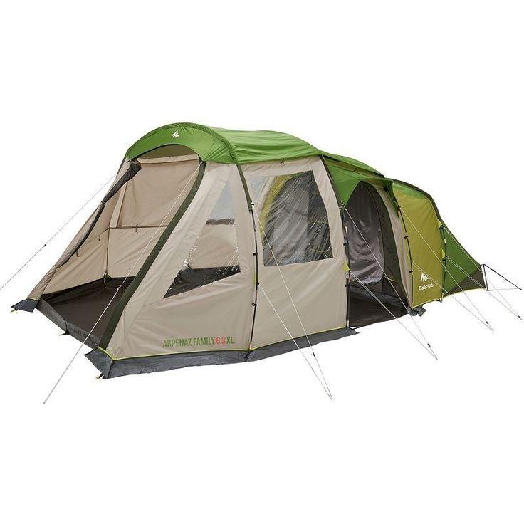 Tente Familiale T6.3 XL - 6 personnes, 3 chambres
