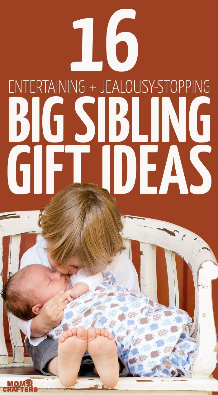 So you know what to add to your baby registry, or what to buy a pregnant woman or new mother... but what about the new big sibling? Here are some big sibling gifts to get for a new baby's big brother or sister to help with jealousy, to entertain, and to educate about the new baby! Pregnancy | Parenting