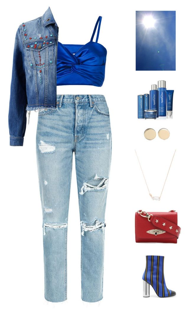 """""""fashion blogger"""" by candynena228 ❤ liked on Polyvore featuring RED Valentino, Sadie Williams, GRLFRND, Marco de Vincenzo, Kendra Scott, Givenchy and HydroPeptide"""