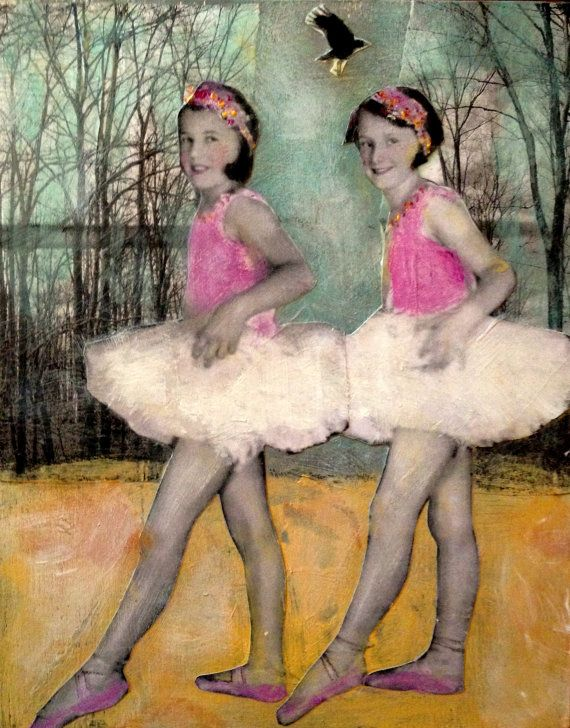 Ballet Girls  original painting TheLittle  Crow by MaudstarrArt