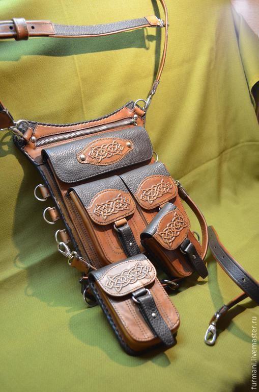 Женские сумки ручной работы. Заказать Сумка набедренная(универсальная)