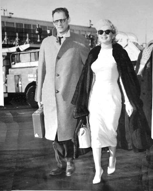 Marilyn And Arthur Miller Leaving New York To Honeymoon In