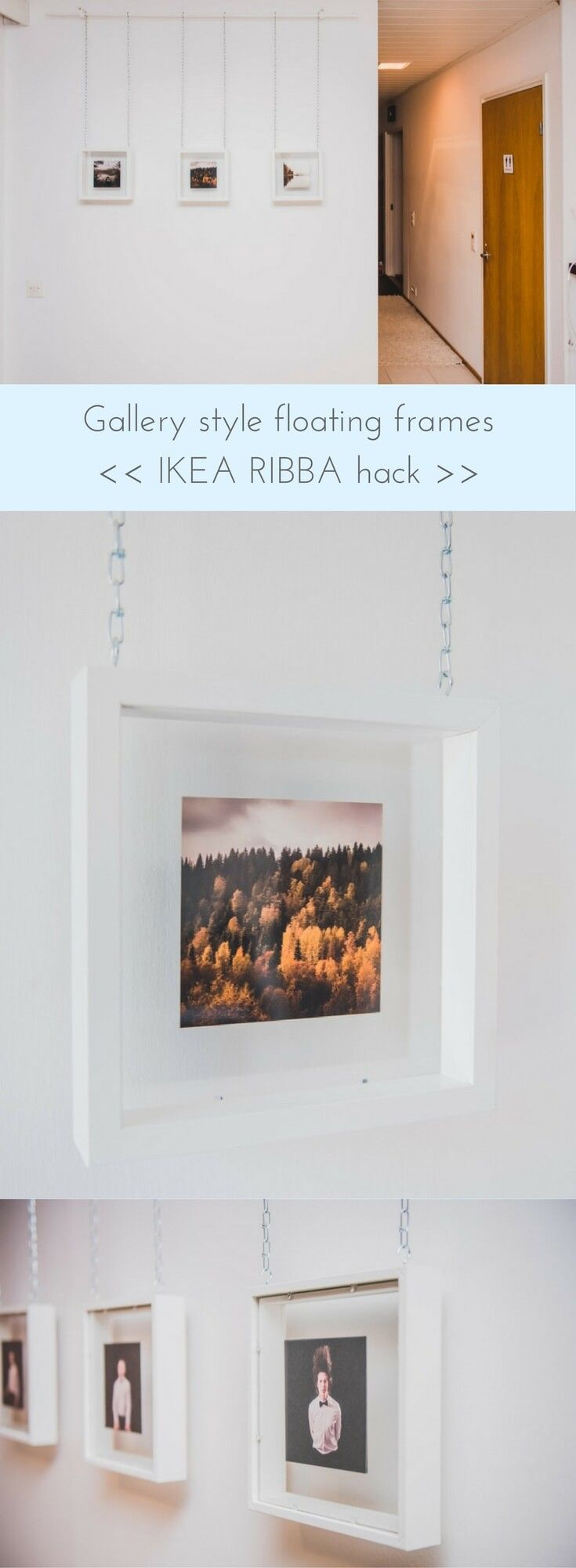 Love! Love! Love! http://www.ikeahackers.net/2017/09/ribba-gallery-style-floating-picture-frame.html
