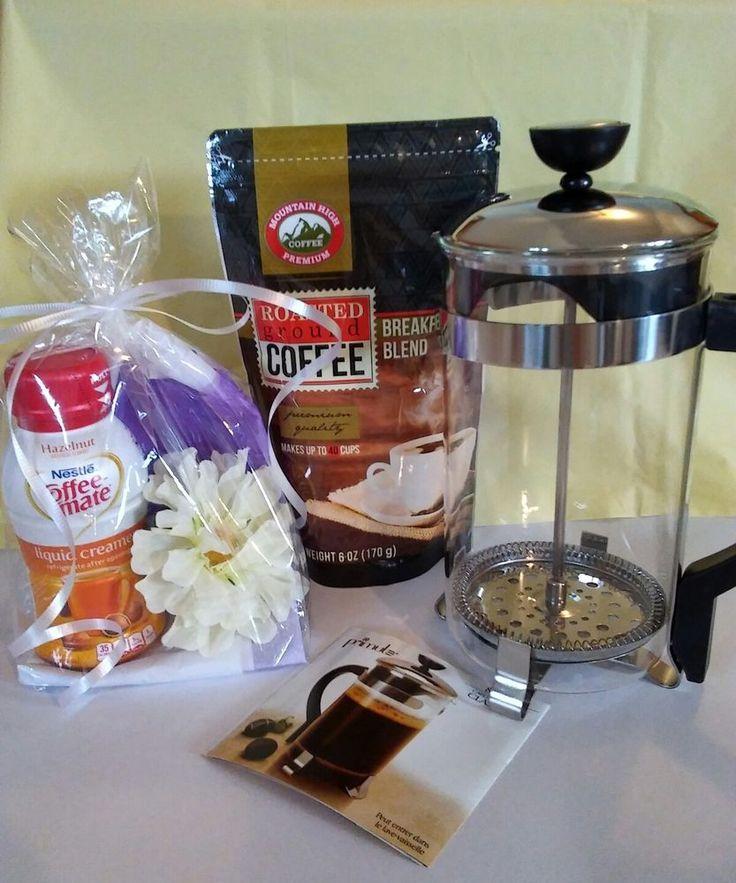 Coffee Press Gift Basket  | eBay