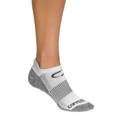 Men's Copper Fit Low Cut Sport Socks 3pk - White S/M