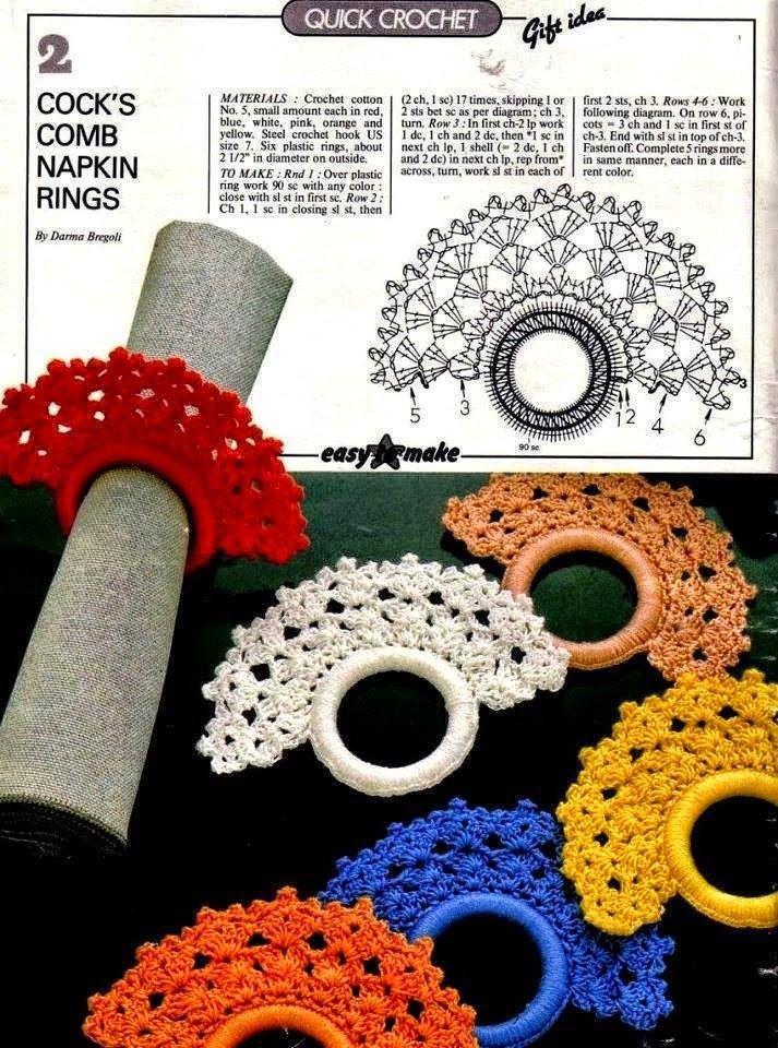 2 patrones de abanicos para servilletero al crochet