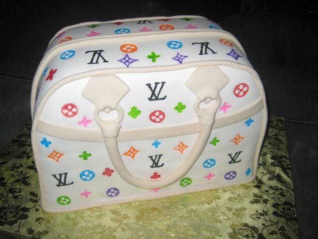Louis Vuitton Purse Cake by Anna Cakes