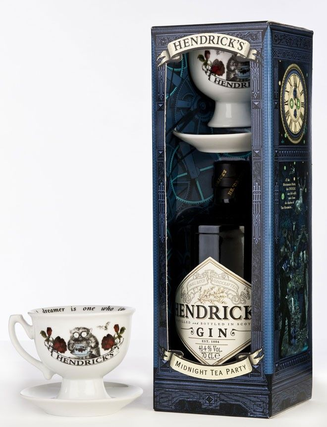 "Hendrick's Gin, playing up serving it during the 1920's in ""tea"" cups"