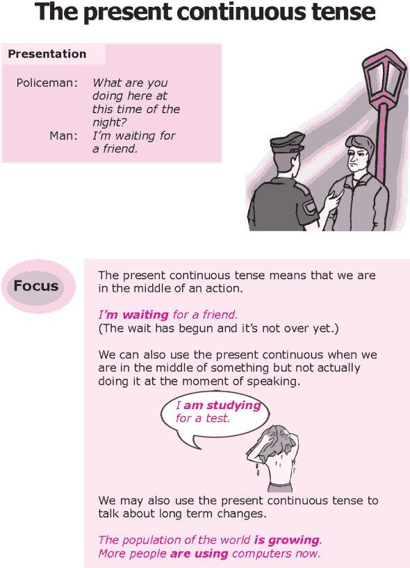 Grade 8 Grammar Lesson 2 The present continuous tense
