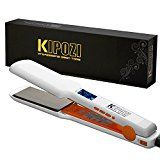 #5: KIPOZI Pro Nano-Titanium Hair Straightener Flat Iron with Digital LCD Display Dual Voltage  Instant Heat Up 1.75 Wide PlateValentine's Day Gift(White) #hot #new #releases #amazon #beauty #personalcare